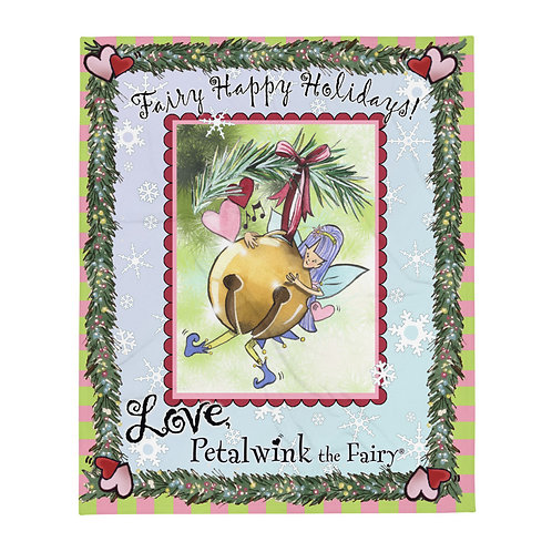 Fairy Happy Holidays Petalwink Throw Blanket