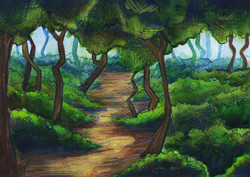Southern of France- Stylized forest