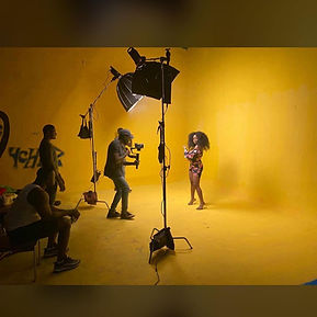 Music Video Production in Lagos on Set