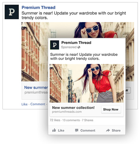 Facebook ads with call to action