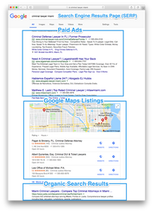 Organic SEO ranking for lawyers and law firm