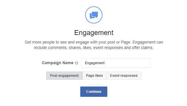 Facebook ads engagement