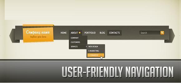 Good website navigation helps increase CTR
