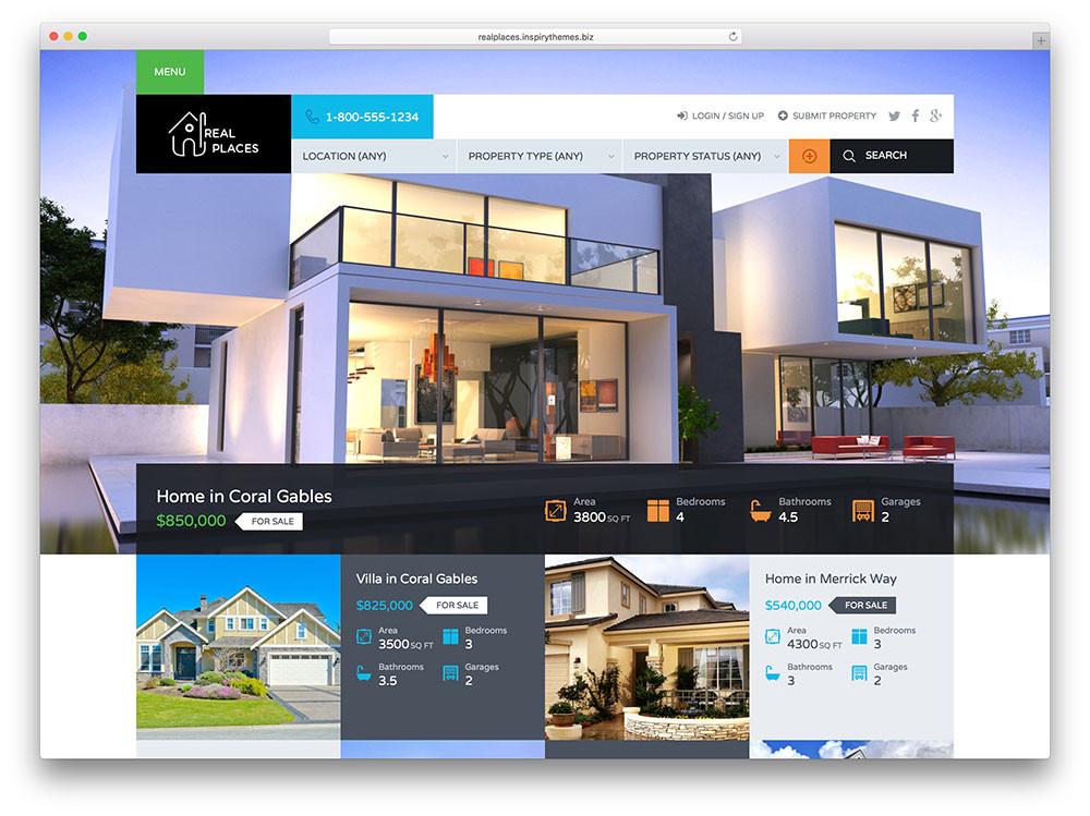 creative website design for real estate firm