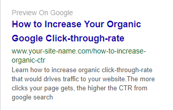 Write effective and engaging description to improve CTR