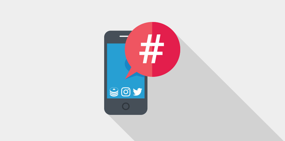 Apply hashtag on social media posts