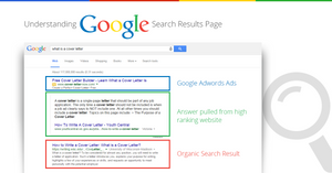 Organic search result page