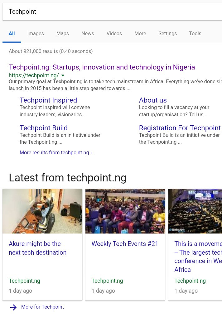Techpoint structured data markup