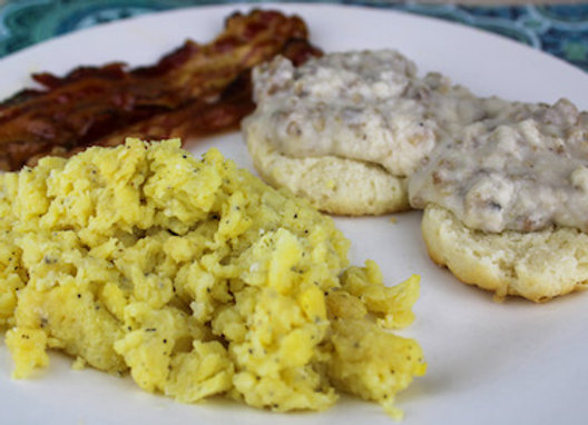 Biscuit and Gravy Breakfast