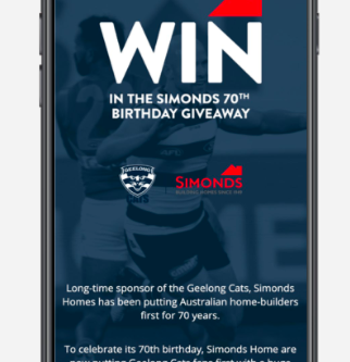 Sponsor Lead Generation: Simonds Homes + Geelong FC