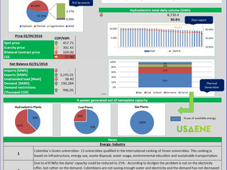 Colombian Electricicty Market - Daily Report