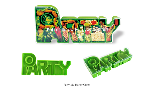 Party my Platter in Green