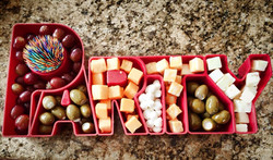Cheese, Olives and Grapes