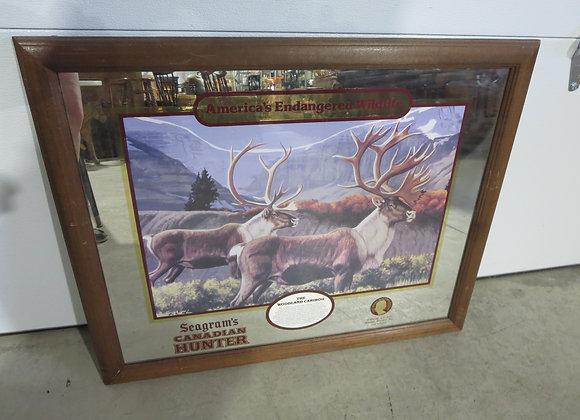 Seagram's Canadian Hunter Woodland Caribou Sign
