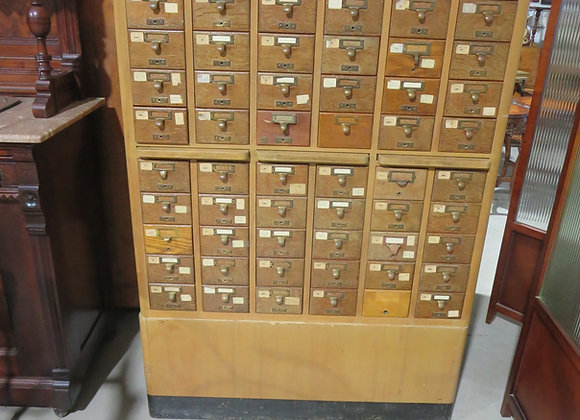 Vintage Remington Rand Library Card File Cabinet