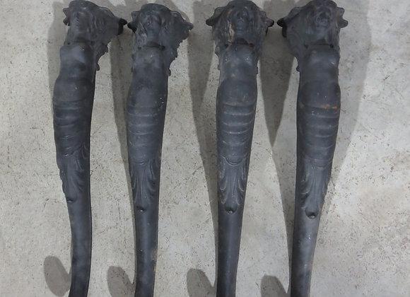 4 Cast Iron Table Legs Lady Mermaid?