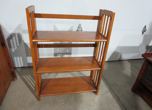 Vintage Maple Folding Book Shelf