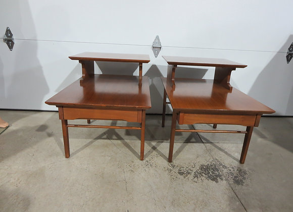 Mid Century Pair Stanley End Tables