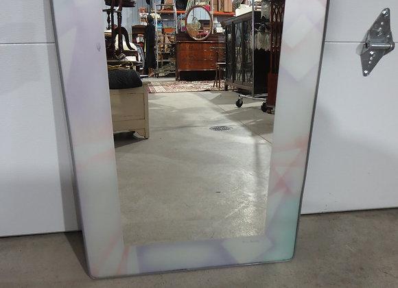 David Marshall Pastel Framed Mirror Signed