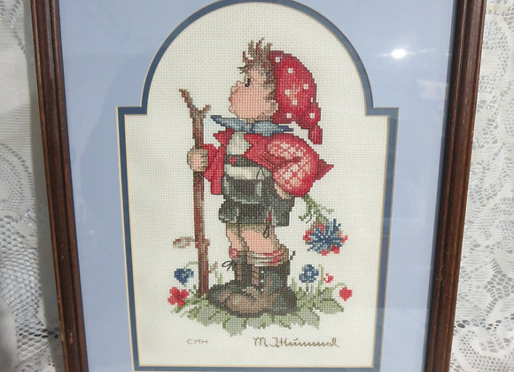 Cross Stitch Hummel Little Hiker - Boy with Stick