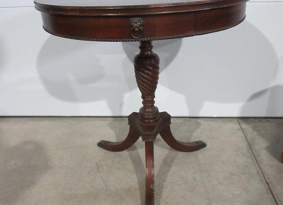 Vintage Mahogany Round Drum Table