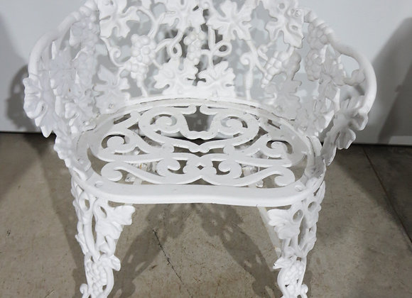 White Metal Outdoor Patio Chair
