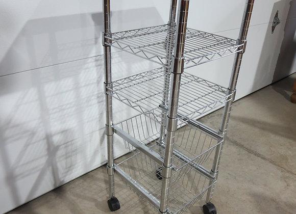 Metal Storage Cart on Wheels