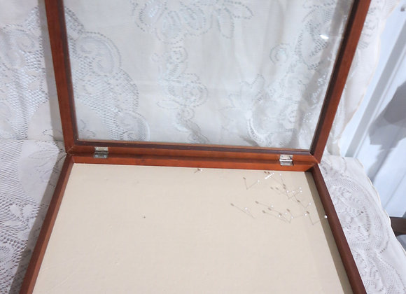 Counter / Wall Jewelry Display Case w/ Glass Lid