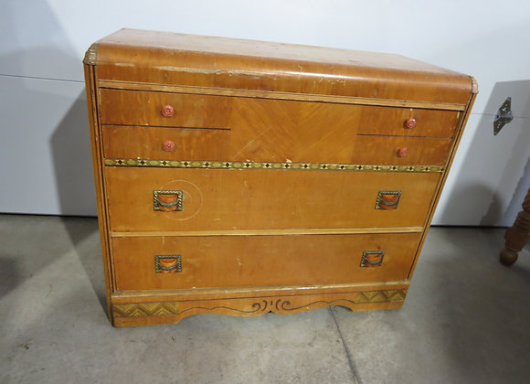 Vintage Waterfall 3 Drawer Chest Needs TLC