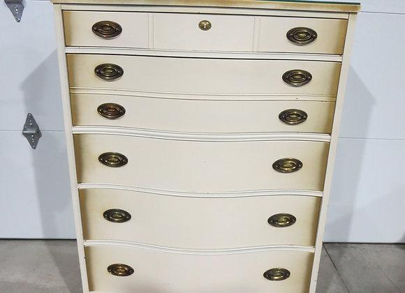 Vintage French Provincial 5 Drawer Chest / Dresser
