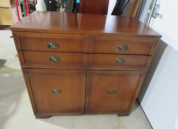 Vintage Mahogany Pullout Dining Room Table Buffet