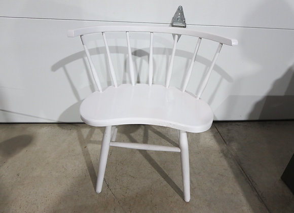 White Painted Wood Vanity Bench