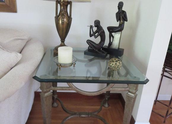 Henredon Metal & Glass End Table