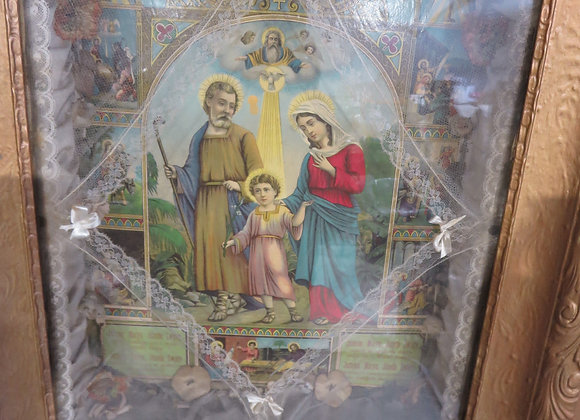 Religious Holy Family Framed Shadow Box