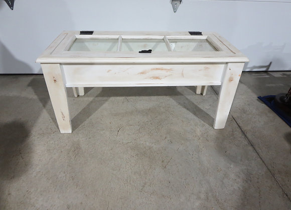 Shabby Coffee Table - Window Pane Table - Shadow Box