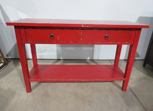 Red Sofa Table Shabby