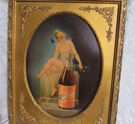 Vintage Schlitz Framed Advertising
