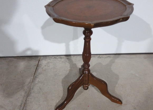 Small Round Leather Top Table