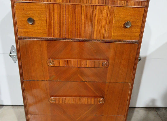 Vintage Waterfall 4 Drawer Chest