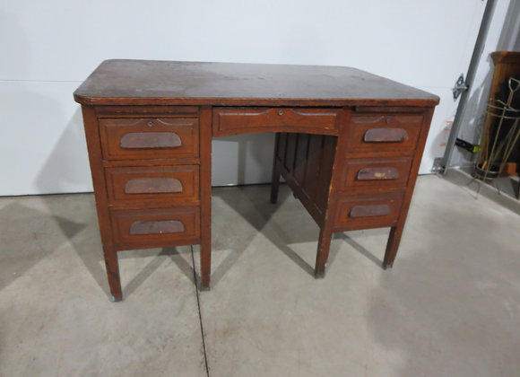 Vintage Oak Desk needs TLC