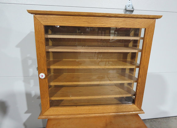 Narrow Oak Display Cabinet