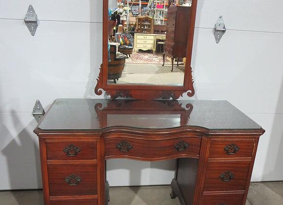 Beautiful Mahogany Desk / Vanity w/ Mirror