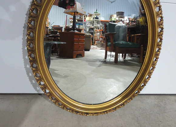 Turner Large Oval Mirror Gold Frame