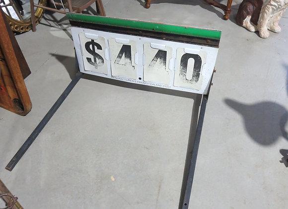 Vintage Metal Gas Station Sign Holder