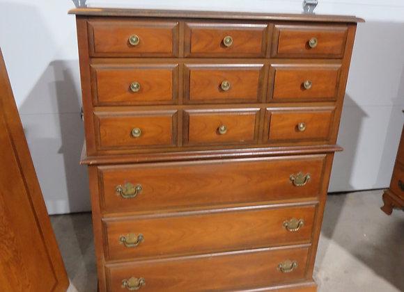 6 Drawer Chest on Chest Dresser