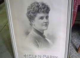 Vintage Framed Poster, 1880's Helen Barry