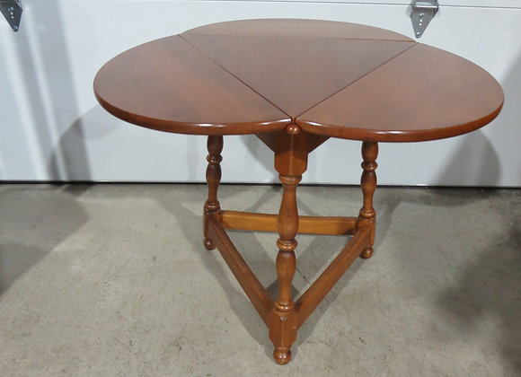 Heywood Wakefield Clover Triangle Drop Leaf Table