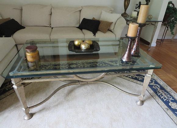 Henredon Metal & Glass Coffee Table