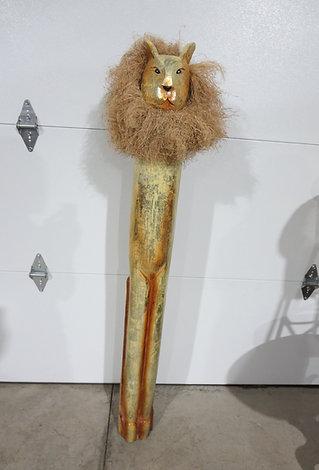 Wooden Art Lion Sculpture