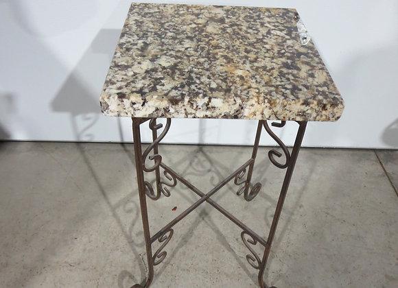 Metal Plant Stand w/ Granite Top